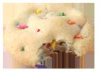 Confetti cookie bite icon